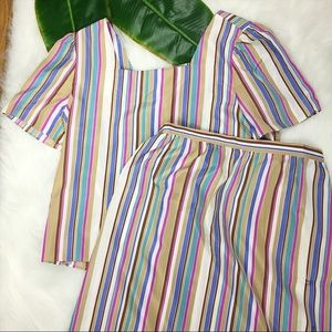 ✨Vintage✨ Jordache Striped Skirt Set Size 13/14